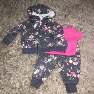 Adorable floral patterned sweatsuit with onesie